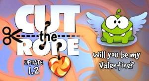Cut the Rope – Itt a Valentin napi kiadás