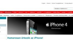 Hivatalos! Hamarosan jön az iPhone 4 a Vodánál