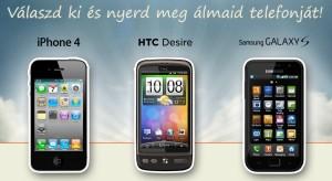 Nyerj egy iPhone 4-et, vagy más csúcskategóriás telefont!