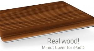 Fából készült Smart Cover az iPad 2 készülékhez