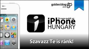 Elrajtolt a Goldenblog 2012! Szavazz az iPhoneHungary oldalára!