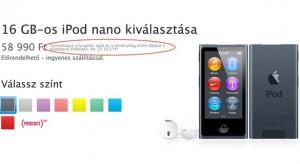 Az Apple beintett: kiderült miért drága az iPod nano Magyarországon