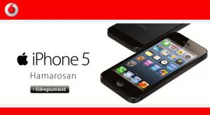 Vodafone-osok figyelem! Elindult az iPhone 5 előregisztrációja!
