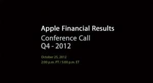 Az Apple október 25-én tartja a Q4-es konferenciahívást