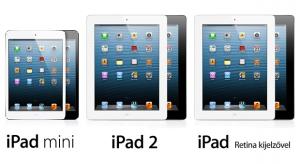Mától kapható az iPad és az iPad mini a Telekomnál