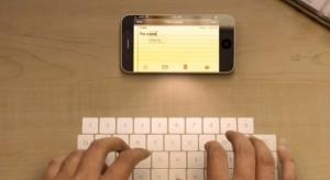 Újabb Apple szabadalmak: kivetített billentyűzet és pénzelosztó rendszer