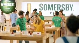 Somersby Cider reklám Apple módra