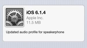 Egy váratlan frissítés: megérkezett az iOS 6.1.4 iPhone 5-re
