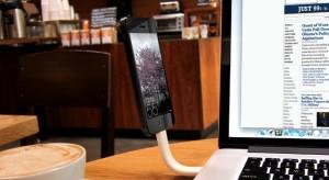 Trunk – Hajlítható Lightning-USB-kábel, ami egyben állványként is funkcionál