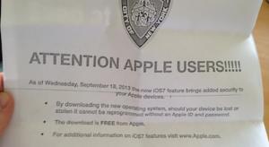 New York-ban a rendőrség kéri, hogy frissítsünk iOS7-re
