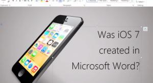 Microsoft Word szoftverrel készült az iOS 7?