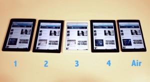 Összehasonlító teszt: iPad generációk egymás mellett