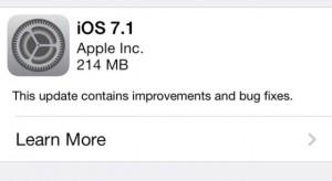 Megjelent az iOS 7.1!