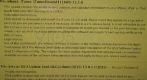 Már az OS X 10.9.3-at és az iTunes 11.1.6-ot tesztelik