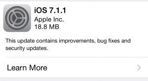 Elérhető az iOS 7.1.1!