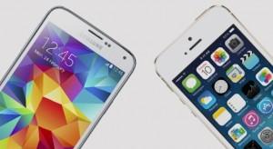 iPhone 5S vs Galaxy S5 – ujjlenyomat összehasonlító