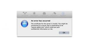 Az Apple elfelejtette megújítani egyik szervere SSL tanúsítványát