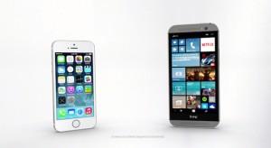 A Microsoft HTC reklámjában is az iPhone az ellenpélda
