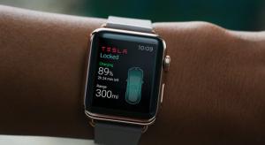 Ilyen lesz a Tesla alkalmazás az Apple Watch-on