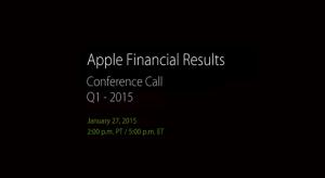 Január 27-én lesz megtartva a 2015 Q1 konferencia