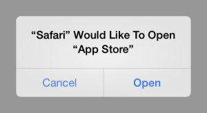 Visszatértek az App Store-ba átirányítós reklámok
