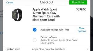 A Watch hamarosan az Apple Store-okban is átvehető lesz