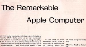 Itt az első újságcikk az Apple-ről, a 70-es évek végéről