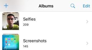 A legújabb iOS béta külön mappákba rakja a szelfiket és a screenshotokat