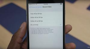 Ilyen méretben vesz fel 4K videót az iPhone 6S