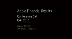 Október 27-én lesz a 2015 Q4-es pénzügyi konferencia