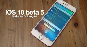 Ezek az iOS 10 beta 5 újdonságai