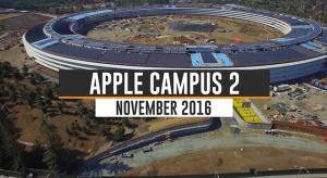 Megérkezett a novemberi drónvideó a már majdnem kész Campus 2-ről