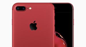 Ilyen lenne a piros iPhone 7 fekete előlappal szerelve