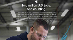 Egyre inkább bővül az Apple amerikai munkavállalóinak száma