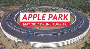 Megérkezett a májusi drónvideó az Apple Parkról