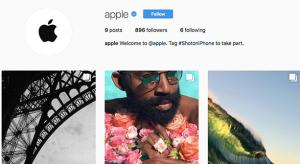 Elindult az Apple hivatalos Instagram oldala