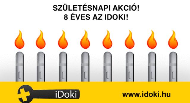 Hatalmas születésnapi akció az iDokitól!