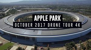 Egyre jobban zöldül az Apple Park (drónvideó)
