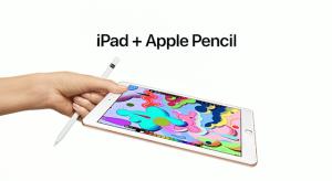 Nagy előszeretettel reklámozza az új iPad Apple Pencil támogatottságát az Apple