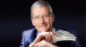 Őrületes eladásokat generál az Apple az idei év utolsó három hónapjában