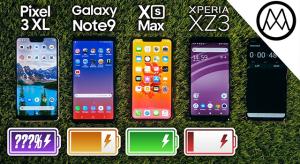 Üzemidő teszt: iPhone Xs Max, Pixel 3 XL, Galaxy Note 9, vagy Xperia XZ 3