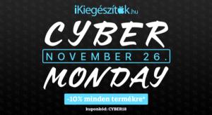 Cyber Monday: fekete péntek után is újabb akcióval vár az iKiegészítők.hu