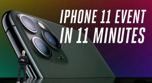 Nézd vissza az iPhone 11 eventet 11 perc alatt