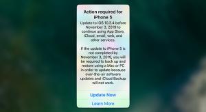 Frissítésre szólítja fel az iPhone 5 felhasználóit az Apple