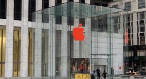 Pirosba borultak az Apple Store-ok logói