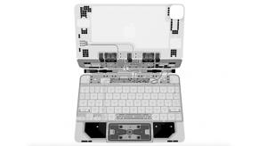 Egészen menően néz ki az új iPad Próhoz kapható Magic Keyboard röntgenképe