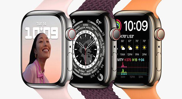 Ugyanazt a processzort kapta az Apple Watch 7, mint az elődje