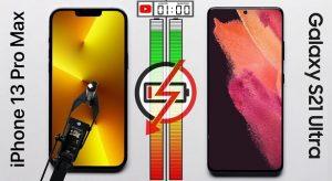 Üzemidőteszt: iPhone 13 Pro Max vs Galaxy S21 Ultra